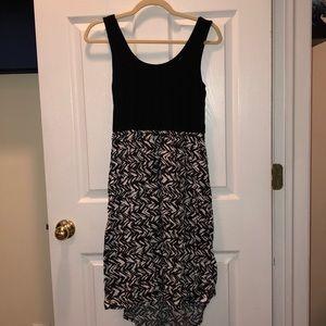 Cotton On Black&White High-Low Dress